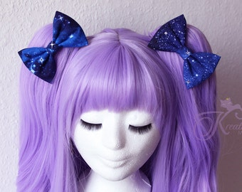 Galaxy hairbow