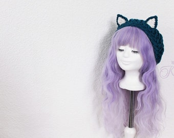 Cat hat (dark teal)