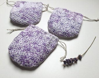 Small Lavender Bag with Sashiko Stitching