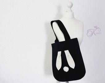 Shopping bag Bunny black