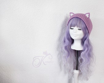 Cat Beanie (berry)