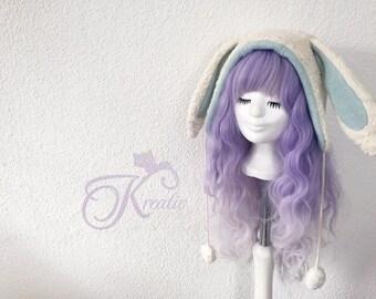 Organic Bunny hat (mint)
