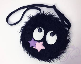 fluffy susuwatari bag