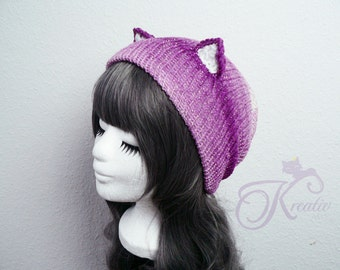 Glitter Fairy Cat Beanie (berry)