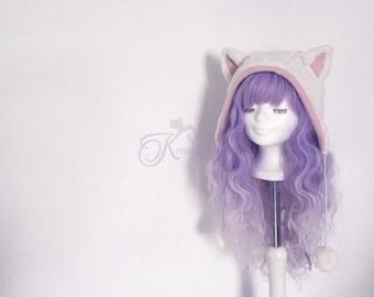 Organic Kitty hat (pink)