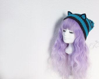 Chesire cat beanie with Pompom