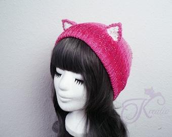 Glitter Fairy Cat Beanie (pink)