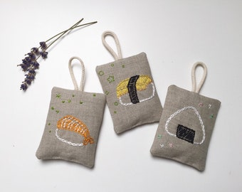 Small Lavender Bag hand stitched (sushi)
