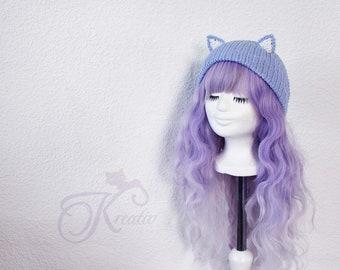 Cat Beanie (baby blue)