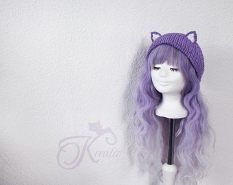 Cat Beanie (purple)