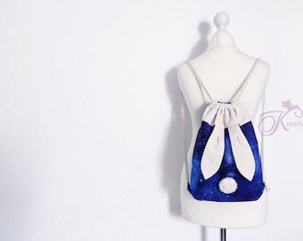 Galaxy Bunny backpack - drawstring bag