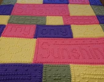 You are my Sunshine Crochet Blanket