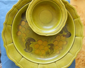 Vintage LA Potteries Chip and Dip Tray