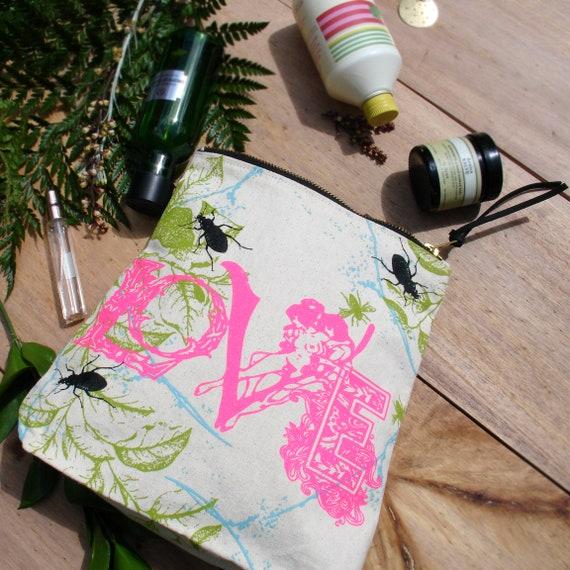Personalised Love Print Canvas Bag