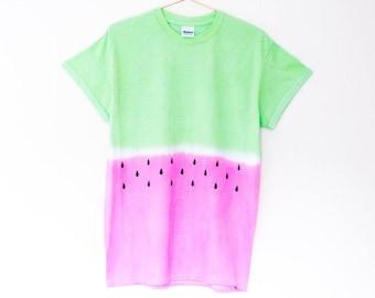 Dip Dye T-shirt Watermelon S/M/L/XL