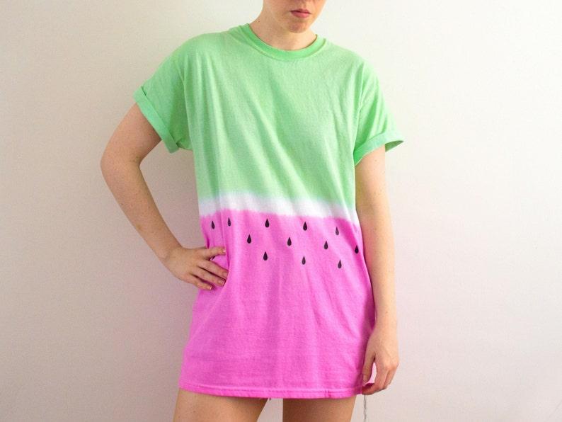 Dip Dye T-shirt Watermelon S/M/L/XL image 0