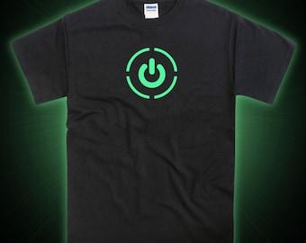 Power Symbol Eblem Icon Glow in the Dark Tshirt