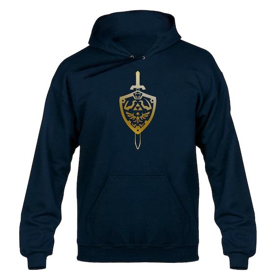 Zelda Inspired Gold Master Sword Tshirt Hoody Hoodie Hooded Sweater