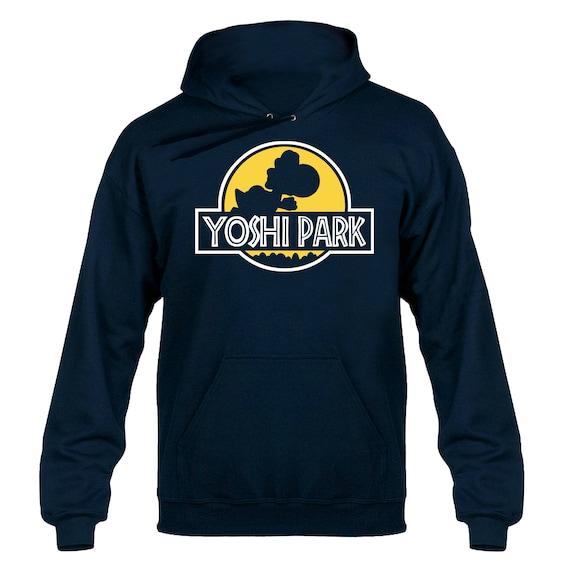 Yoshi Park Movie Jurassic Parody Hoody Hoodie Hooded Sweater (Yellow Logo)