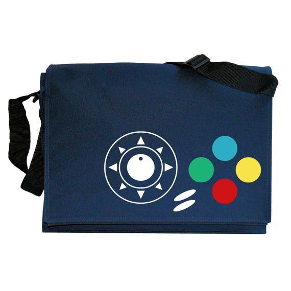 Neo Geo Joypad Controller Buttons Navy Blue Messenger Shoulder Bag