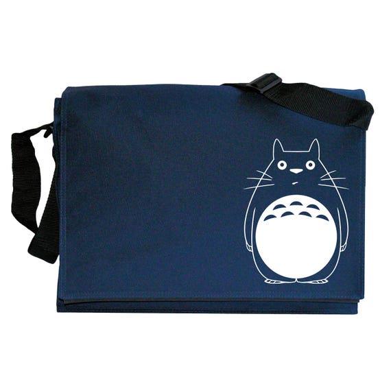 Funny Fat Cat Totoro inspired Navy Blue Messenger Shoulder Bag