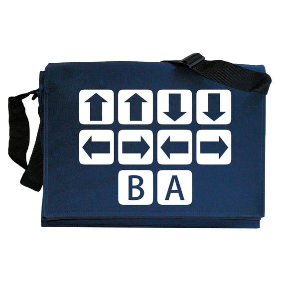 Konami Code Classic Cheat Navy Blue Messenger Shoulder Bag