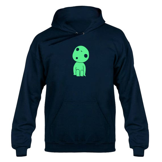 Kodama Forest Spirit Child Glow in the Dark Hoody Hoodie Hooded Sweater