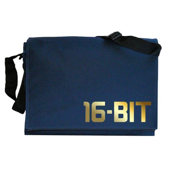 Gold 16 Bit mega Drive Genesis Blue Messenger Shoulder Bag