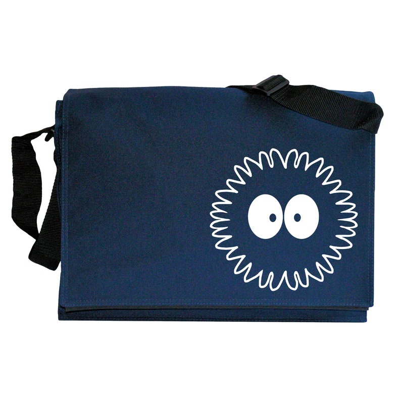 Soot Puff Sprite Navy Blue Messenger Shoulder Bag