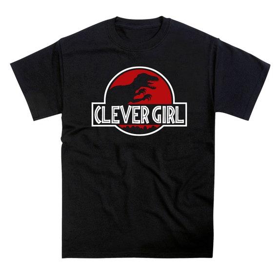 Clever Girl Velociraptor Jurassic Park Inspired Dinosaur Parody T-Shirt