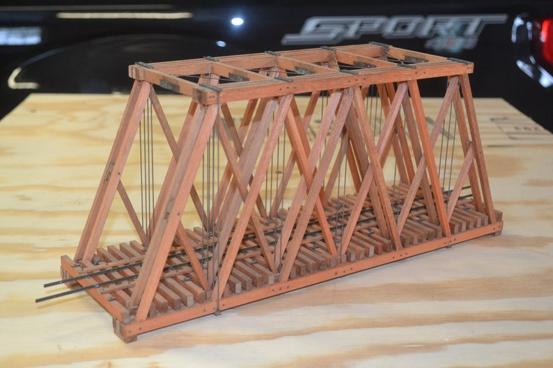 On30 Narrow Gauge Howe Truss Bridge Railroad Layout Model Exceptional Scratchbuilt Layout Narrow Gauge On30 Bridge 14 Scale Howe Truss Bri