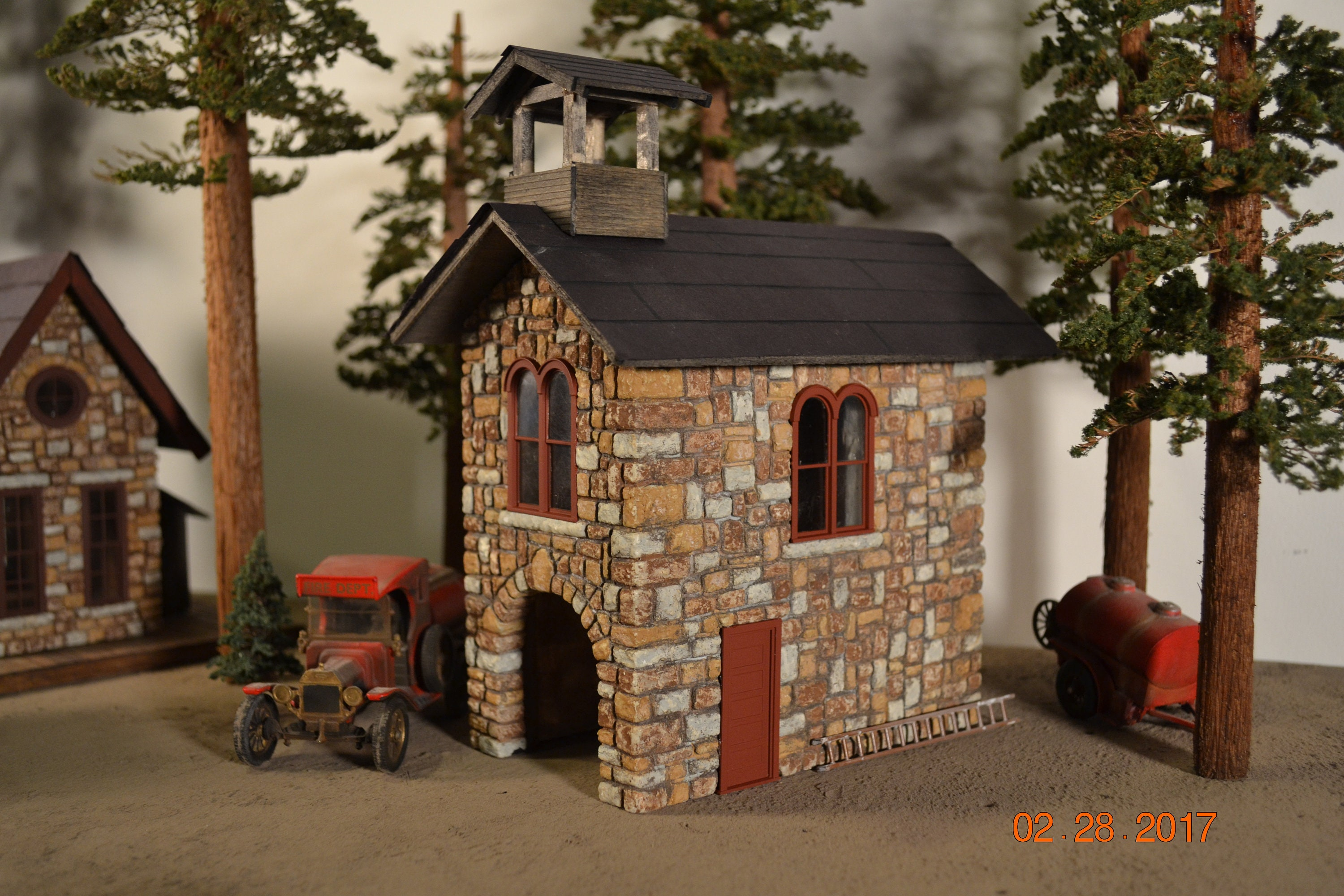 On30 Narrow Gauge Fire Station Late 1800's Early 1900's Fire Station O  Scale Narrow Gauge Backwoods Fire Department Model Railroad Building