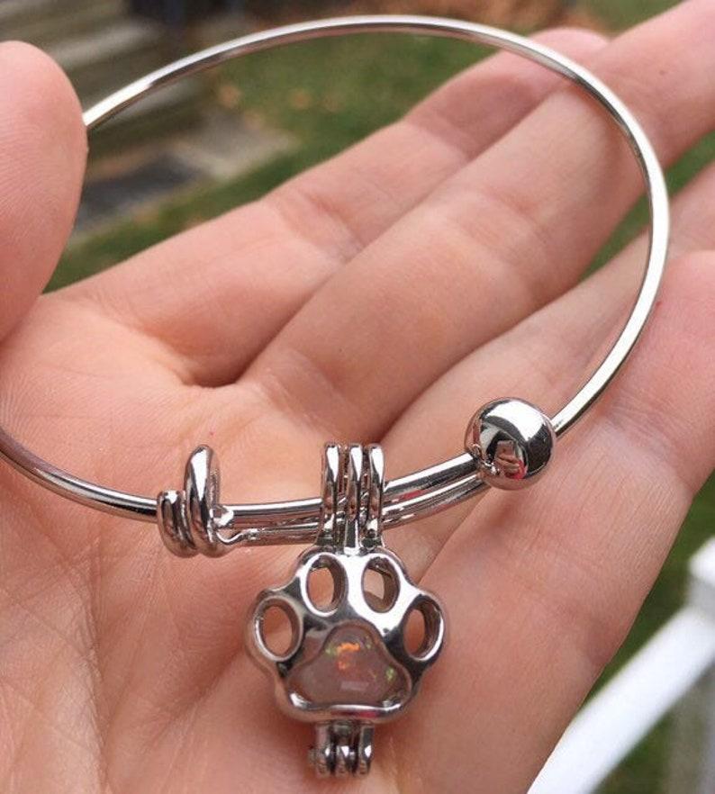 Pet Ash Bracelet Cremation Jewelry Pet Memorial Pet Ashes Pet Ash Bangle