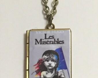 Les Miserables Book Cover Locket