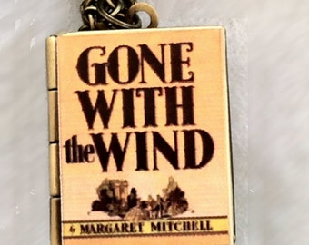 Gone With the Wind Book Cover Locket