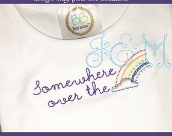 rainbow lettering etsy