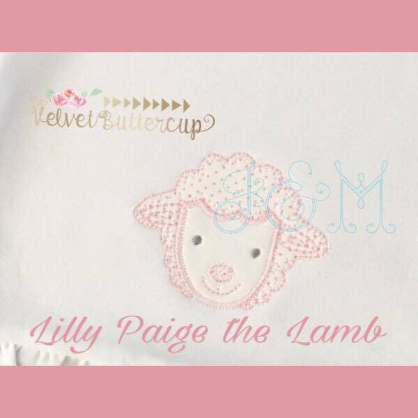 7f75fdfb93b825 Lily Paige the Lamb 4x4 VIntage Style Applique Embroidery
