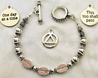 Recovery Serenity Prayer Bracelet