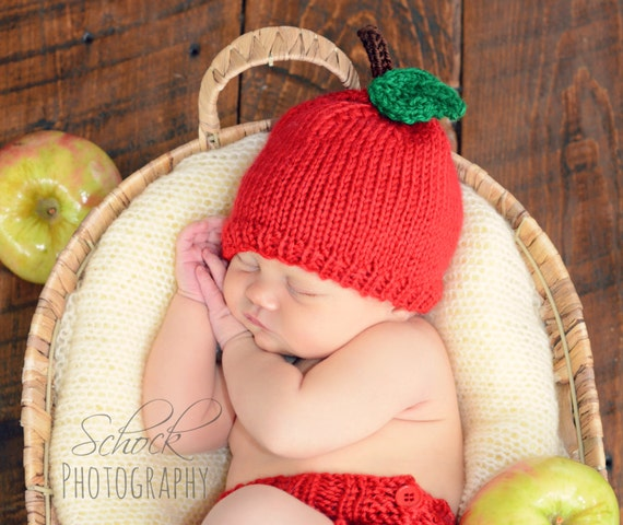 Apple Hat Apple Baby Hat Apple Newborn Hat Apple Toddler  a0b363d6e65