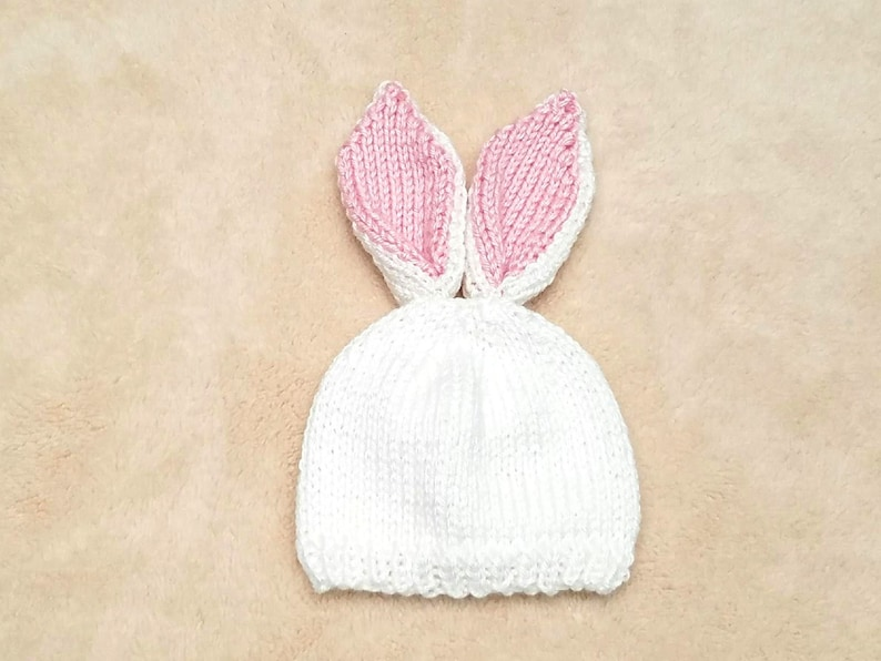 3d2c35180d8 White Rabbit Baby Hat White Bunny Baby Hat Baby Bunny Hat