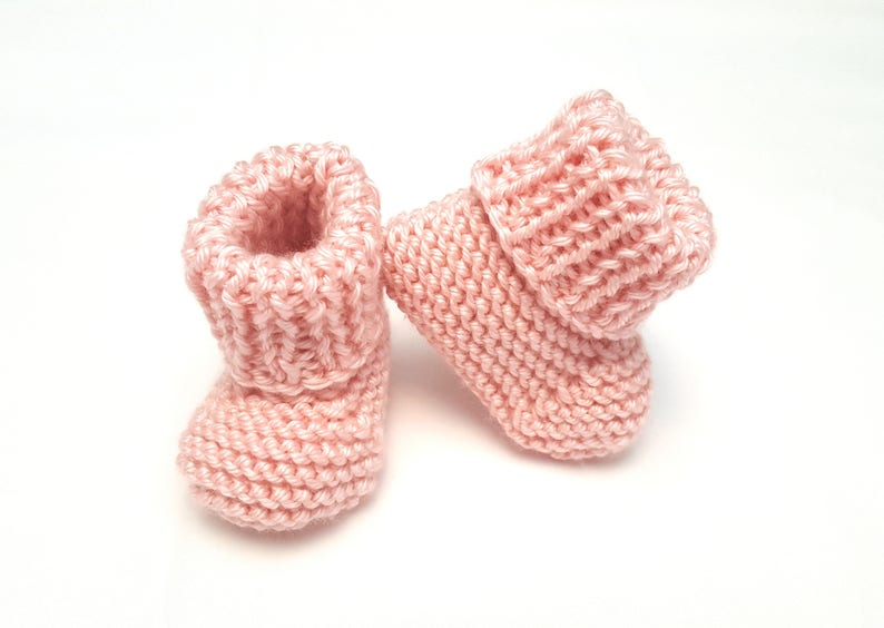 92ba61901 Pink Baby Booties Pink Infant Booties Pink Baby Shoes