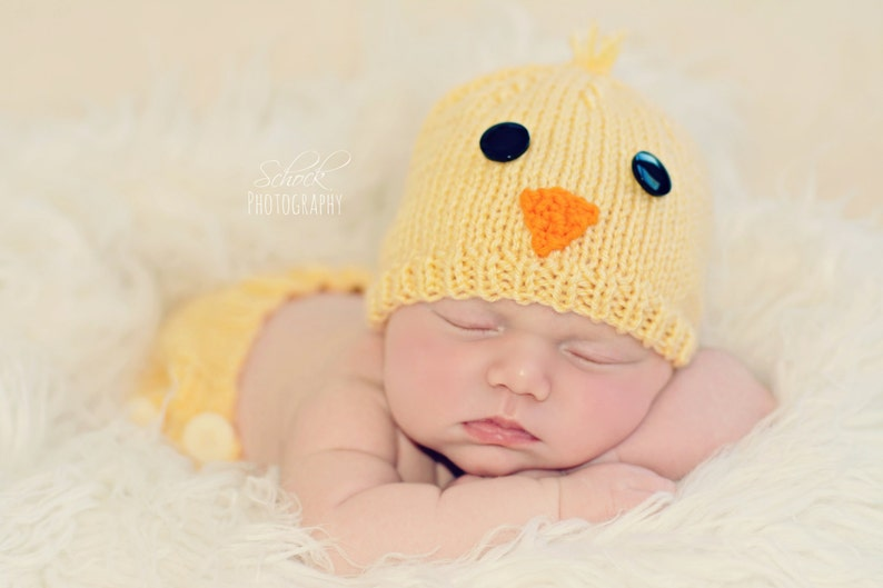 c41d2fe510b Chicken Baby Hat Farm Animal Baby Hat Chicken Newborn Hat