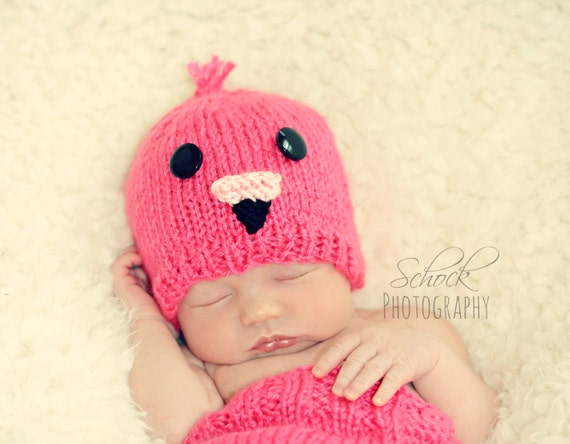 f317e95c3cd Pink Flamingo Baby Hat Pink Flamingo Newborn Hat Flamingo