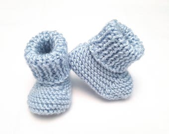 Blue Baby Booties • Blue Newborn Booties • Blue Baby Shoes • Baby Boy Booties • Newborn Photoprops • Gender Reveal Prop