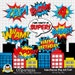 Anya Vongphakdy reviewed Superheroes Pop Art Text and Bubbles Clipart / Super hero Text and bubbles digital clip art / Superhero photobooth props