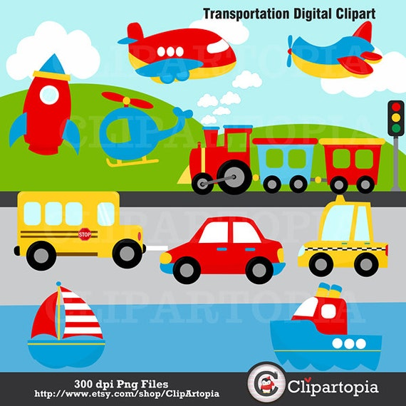 transportation digital clipart transportation clip art plane