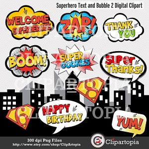 View Superheroes Pop Art Text Props Super Hero PNG