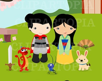 Princesa tradicional digital clipart / Princesas clipart / princesas clip art para uso personal y comercial