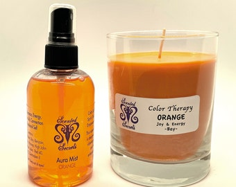 Joy and Energy Candle and Aura Mist for Adults, Children, and Pets