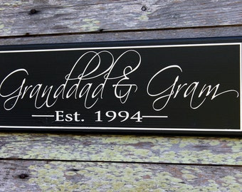 Personalized Grandparent Sign, Customized Grandparent Sign, Grandparent Announcement, New Grandparent Gift, Christmas Gift, Baby Shower Gift